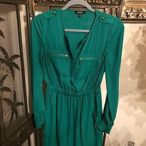 Cute Emerald Green Dress, Size S
